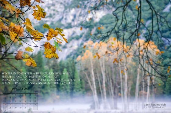 Jan 2013 Calendar desktop Yosemite - Lechphoto