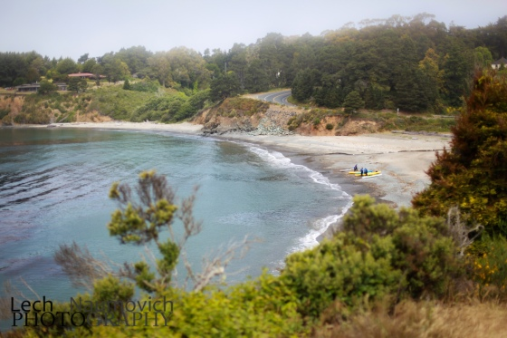"A view of one of the many ""private-like"" public beaches in Mendocino County"