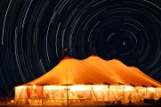 tent - star trails